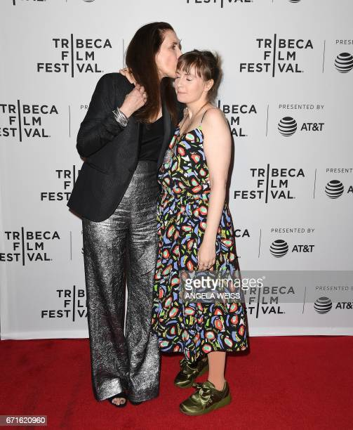 Director Laurie Simmons and daughter Lena Dunham attend the 'My Art' premiere during 2017 Tribeca Film Festival at Cinepolis Chelsea on April 22 2017...