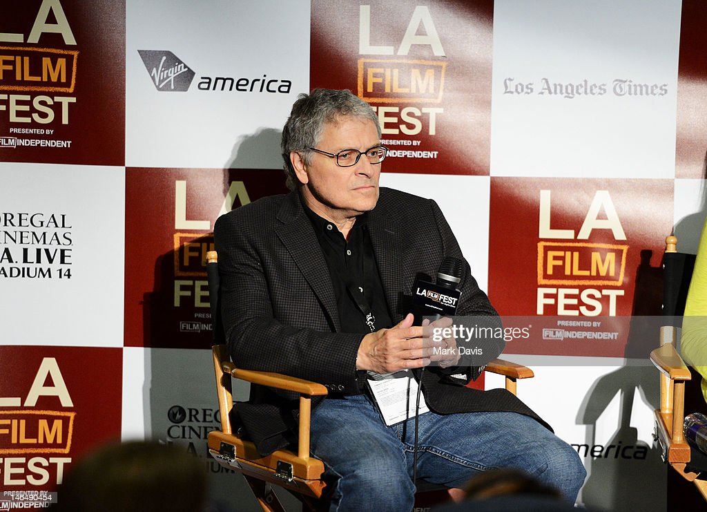 Director <a gi-track='captionPersonalityLinkClicked' href=/galleries/search?phrase=Lawrence+Kasdan&family=editorial&specificpeople=625374 ng-click='$event.stopPropagation()'>Lawrence Kasdan</a> speaks during the Director's coffee talks during the 2012 Los Angeles Film Festival at Regal Cinemas L.A. Live on June 17, 2012 in Los Angeles, California.