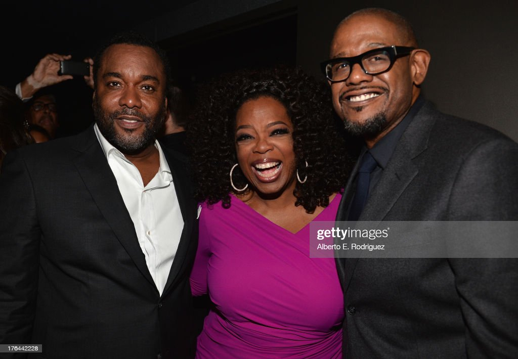 Director <a gi-track='captionPersonalityLinkClicked' href=/galleries/search?phrase=Lee+Daniels&family=editorial&specificpeople=209078 ng-click='$event.stopPropagation()'>Lee Daniels</a>, actors <a gi-track='captionPersonalityLinkClicked' href=/galleries/search?phrase=Oprah+Winfrey&family=editorial&specificpeople=171750 ng-click='$event.stopPropagation()'>Oprah Winfrey</a> and <a gi-track='captionPersonalityLinkClicked' href=/galleries/search?phrase=Forest+Whitaker&family=editorial&specificpeople=226590 ng-click='$event.stopPropagation()'>Forest Whitaker</a> attend the after party for the Premiere Of The Weinstein Company's '<a gi-track='captionPersonalityLinkClicked' href=/galleries/search?phrase=Lee+Daniels&family=editorial&specificpeople=209078 ng-click='$event.stopPropagation()'>Lee Daniels</a>' The Butler' at Regal Cinemas L.A. Live on August 12, 2013 in Los Angeles, California.