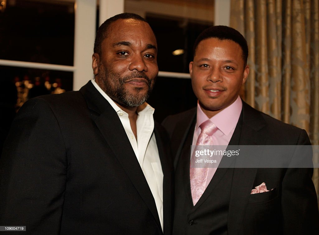 Director Lee Daniels and Actor Terrence howard attends the Dewar's Signature Celebration for 'The Fighter' With Hilary Swank Sean Penn David Hoberman...
