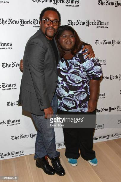 Director Lee Daniels and Actress Gabourey Sidibe attends the 9th Annual New York Times Arts and Leisure Weekend at TheTimesCenter on January 9 2010...