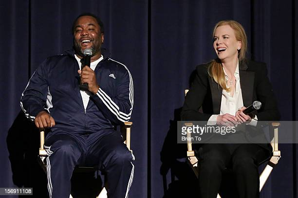 Director Lee Daniels and actress Nicole Kidman attend 'The Paperboy' QA with Nicole Kidman at Harmony Gold Theatre on November 24 2012 in Los Angeles...