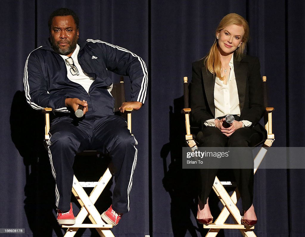 Director <a gi-track='captionPersonalityLinkClicked' href=/galleries/search?phrase=Lee+Daniels&family=editorial&specificpeople=209078 ng-click='$event.stopPropagation()'>Lee Daniels</a> and actress <a gi-track='captionPersonalityLinkClicked' href=/galleries/search?phrase=Nicole+Kidman&family=editorial&specificpeople=156404 ng-click='$event.stopPropagation()'>Nicole Kidman</a> attend 'The Paperboy' Q&A with <a gi-track='captionPersonalityLinkClicked' href=/galleries/search?phrase=Nicole+Kidman&family=editorial&specificpeople=156404 ng-click='$event.stopPropagation()'>Nicole Kidman</a> at Harmony Gold Theatre on November 24, 2012 in Los Angeles, California.