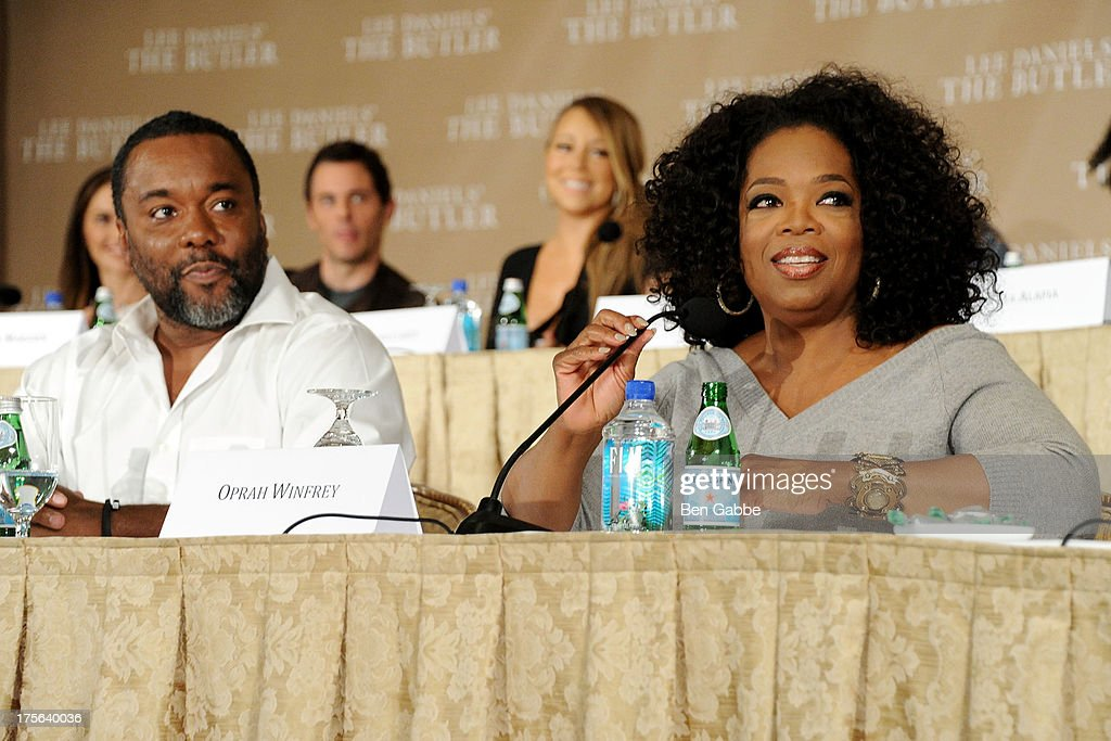 Director Lee Daniels (L) and Oprah Winfrey attend the press conference for The Weinstein Company's LEE DANIELS' THE BUTLER at Waldorf Astoria Hotel on August 5, 2013 in New York City.