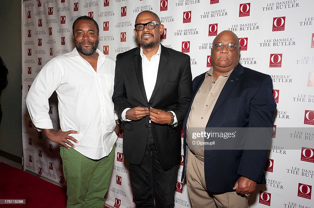 Director <a gi-track='captionPersonalityLinkClicked' href=/galleries/search?phrase=Lee+Daniels&family=editorial&specificpeople=209078 ng-click='$event.stopPropagation()'>Lee Daniels</a>, <a gi-track='captionPersonalityLinkClicked' href=/galleries/search?phrase=Forest+Whitaker&family=editorial&specificpeople=226590 ng-click='$event.stopPropagation()'>Forest Whitaker</a>, and Charles Allen attend 'The Butler' screening at Hearst Tower on July 31, 2013 in New York City.