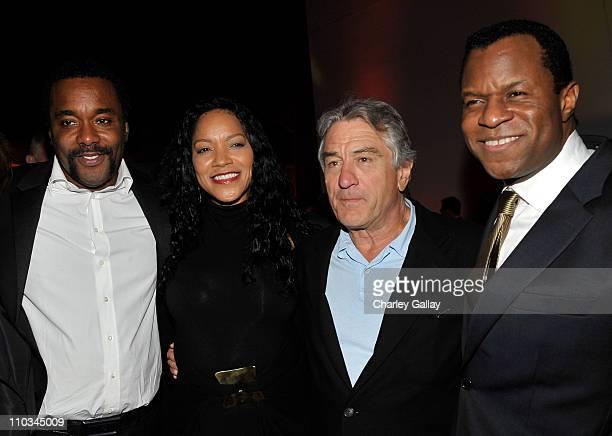 Director Lee Daniels Grace Hightower Actor Robert De Niro and Writer Geoffrey Fletcher attend the 'Precious' Pre Gala Screening Cocktail Reception...
