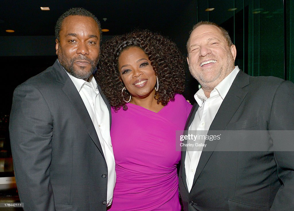 Director <a gi-track='captionPersonalityLinkClicked' href=/galleries/search?phrase=Lee+Daniels&family=editorial&specificpeople=209078 ng-click='$event.stopPropagation()'>Lee Daniels</a>, <a gi-track='captionPersonalityLinkClicked' href=/galleries/search?phrase=Oprah+Winfrey&family=editorial&specificpeople=171750 ng-click='$event.stopPropagation()'>Oprah Winfrey</a>, and <a gi-track='captionPersonalityLinkClicked' href=/galleries/search?phrase=Harvey+Weinstein&family=editorial&specificpeople=201749 ng-click='$event.stopPropagation()'>Harvey Weinstein</a> attend the after party for LEE DANIELS' THE BUTLER Los Angeles premiere, hosted by TWC, Budweiser and FIJI Water, Purity Vodka and Stack Wines, held at the Ritz-Carlton on August 12, 2013 in Los Angeles, California.