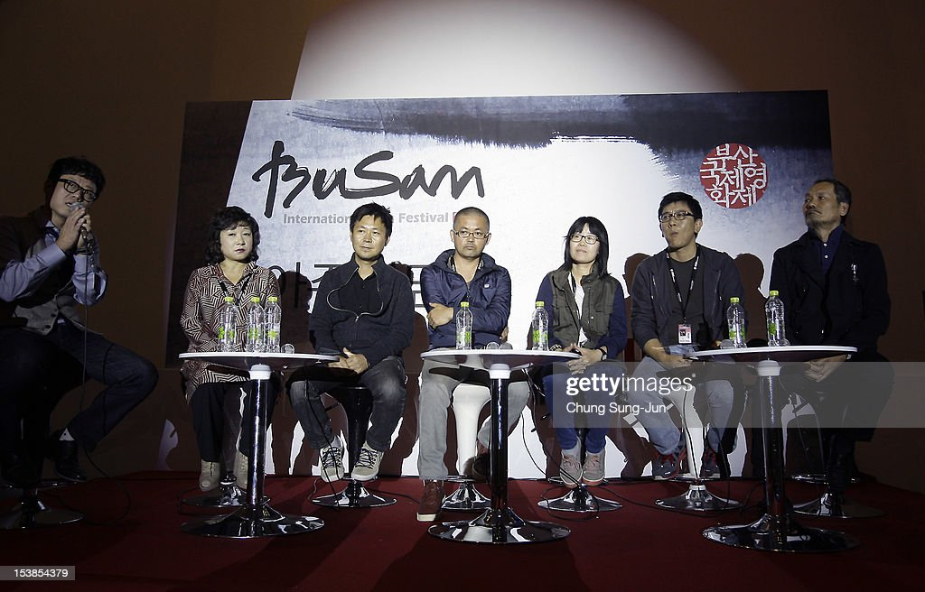 Director Lee Gong-Hee, Roy Lee, O Muel, Shin Su-Won, Lee Ji-Seung and Choi Wi-An attend Meet the Guest 'Directors of Vision' during the 17th Busan International Film Festival (BIFF) at Busan Cinema Center on October 10, 2012 in Busan, South Korea. The biggest film festival in Asia showcases 304 films from 75 countries and runs from October 4-13.
