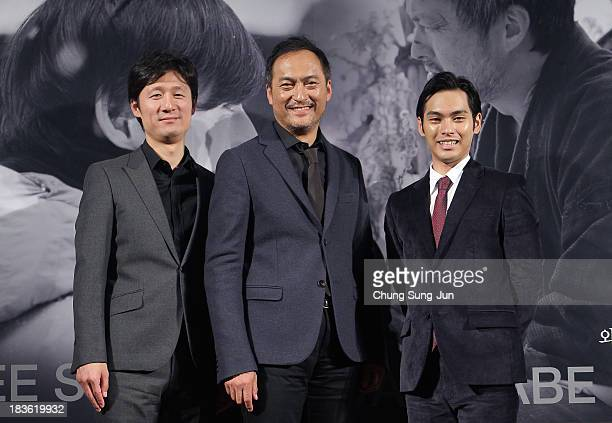 Director Lee SangIl actor Ken Watanabe and Yuya Yagira atends the Open Talk 'Unforgiven' at the BIFF Hill during 18th Busan International Film...