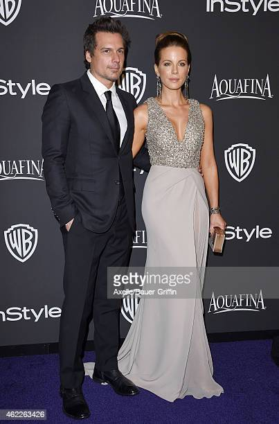 Director Len Wiseman and actress Kate Beckinsale arrive at the 16th Annual InStyle and Warner Bros Golden Globe AfterParty at The Beverly Hilton...