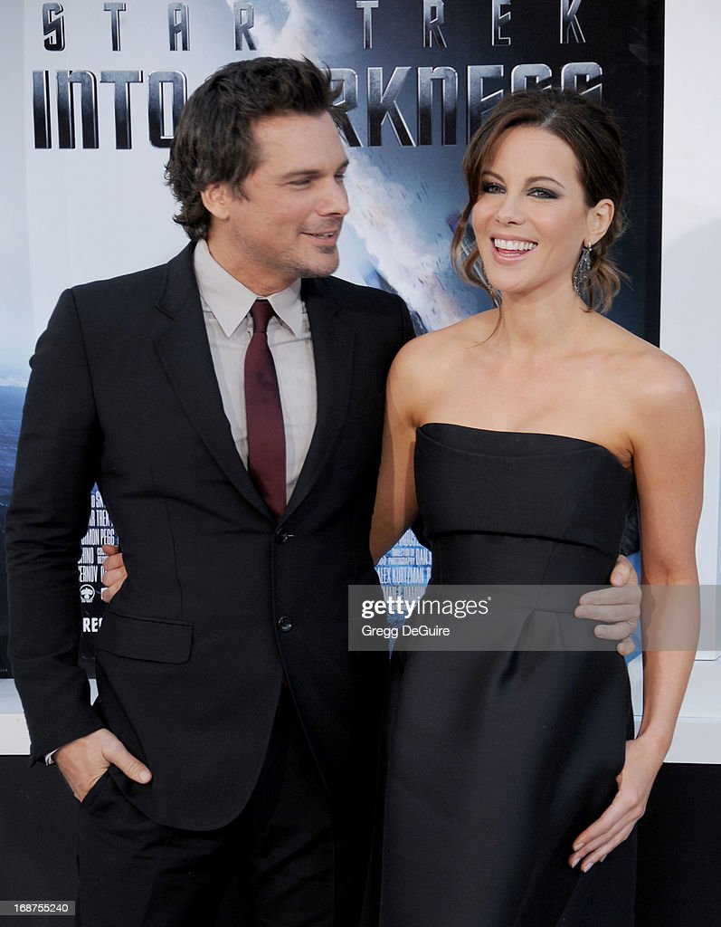 Director Len Wiseman and actress Kate Beckinsale arrive at the Los Angeles premiere of 'Star Trek: Into Darkness' at Dolby Theatre on May 14, 2013 in Hollywood, California.