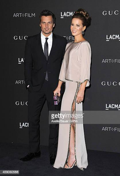 Director Len Wiseman and actress Kate Beckinsale attend the 2014 LACMA Art Film Gala Honoring Barbara Kruger And Quentin Tarantino Presented By Gucci...