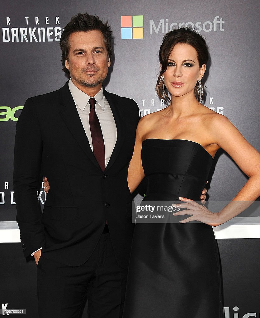 Director Len Wiseman and actress Kate Beckinsale attend the premiere of 'Star Trek Into Darkness' at Dolby Theatre on May 14, 2013 in Hollywood, California.