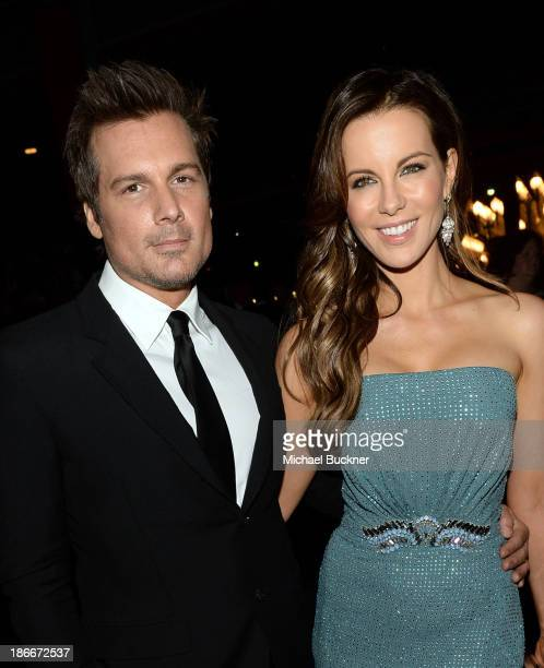 Director Len Wiseman and actress Kate Beckinsale wearing Gucci attend the LACMA 2013 Art Film Gala honoring Martin Scorsese and David Hockney...