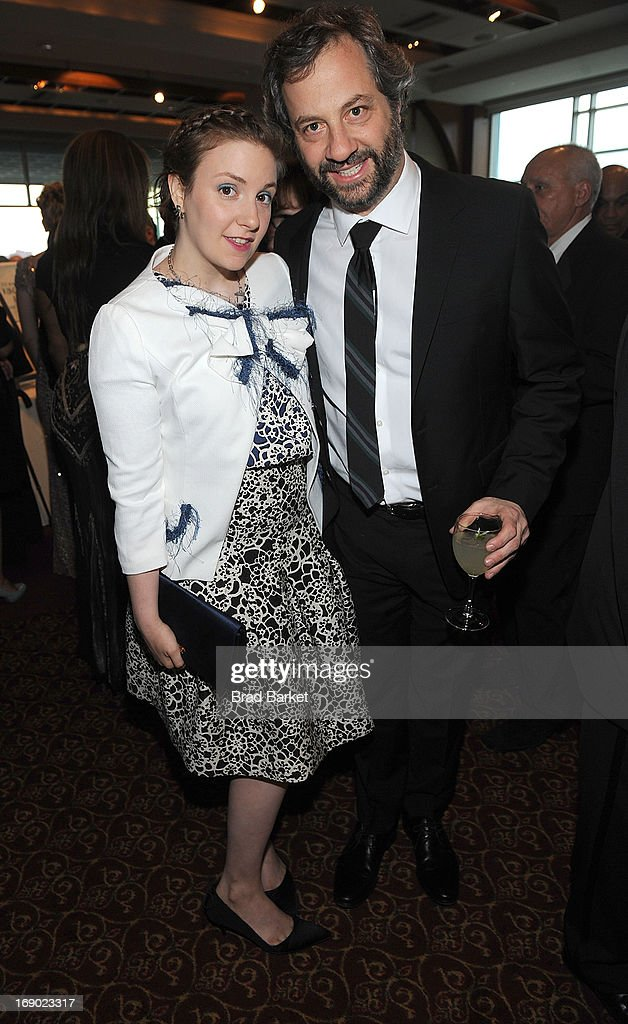 Director Lena Dunham ad Judd Apatow attend Lutheran Healthcare 130th Annual Dinner Dance at Pier Sixty at Chelsea Piers on May 18, 2013 in New York City.
