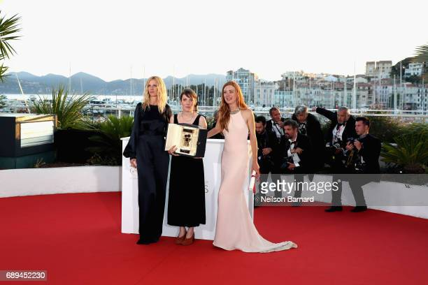 Director Leonor Serraille winner of the Camera d'Or for best first film from any section of the entire festival for 'Jeune femme' poses with...