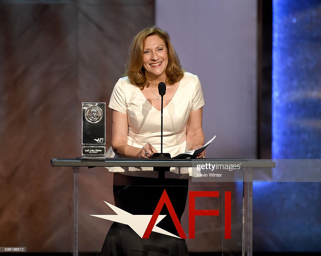 Director Lesli Linka Glatter accepts the AFI Franklin J. Schaffner Alumni Medal onstage during American Film Institute's 44th Life Achievement Award Gala Tribute to John Williams at Dolby Theatre on June 9, 2016 in Hollywood, California. 26148_004