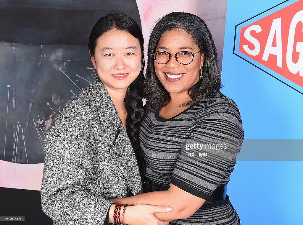 Director Li Lu and national director of SAG Indie Darrien Gipson attends the SAG Indie Filmmaker Brunch during the 2015 Sundance Film Festival on...