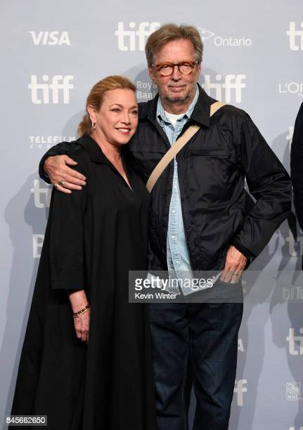 Director Lili Fini Zanuck and musician Eric Clapton attend 'Eric Clapton Life In 12 Bars' press conference during 2017 Toronto International Film...