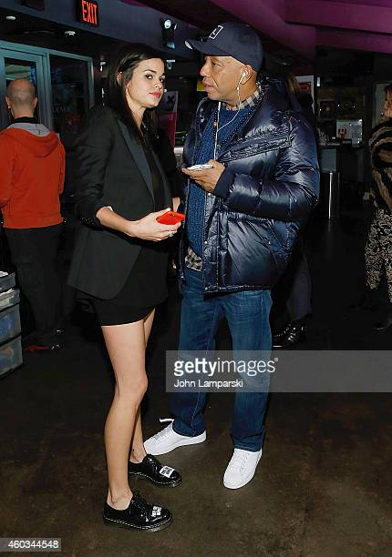 Director Lina Esco and Russell Simmons attend 'Free The Nipple' New York Premiere at IFC Center on December 11 2014 in New York City