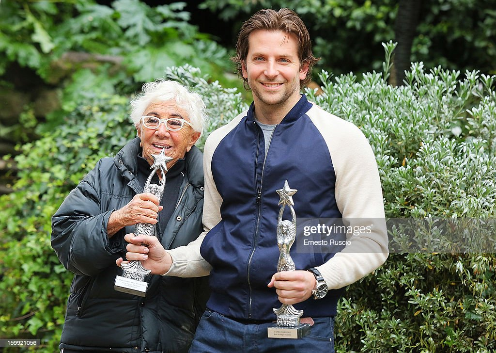 Director Lina Wertmuller and actor <a gi-track='captionPersonalityLinkClicked' href=/galleries/search?phrase=Bradley+Cooper&family=editorial&specificpeople=680224 ng-click='$event.stopPropagation()'>Bradley Cooper</a> attend the 'Silver Linings Playbook' photocall at De Russie Hotel on January 21, 2013 in Rome, Italy.