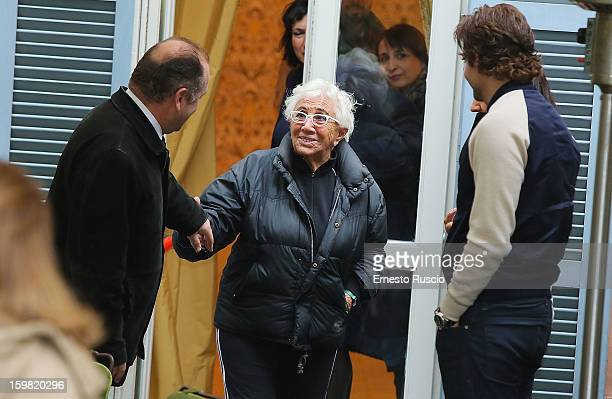 Director Lina Wertmuller attends the 'Silver Linings Playbook' photocall at De Russie Hotel on January 21 2013 in Rome Italy