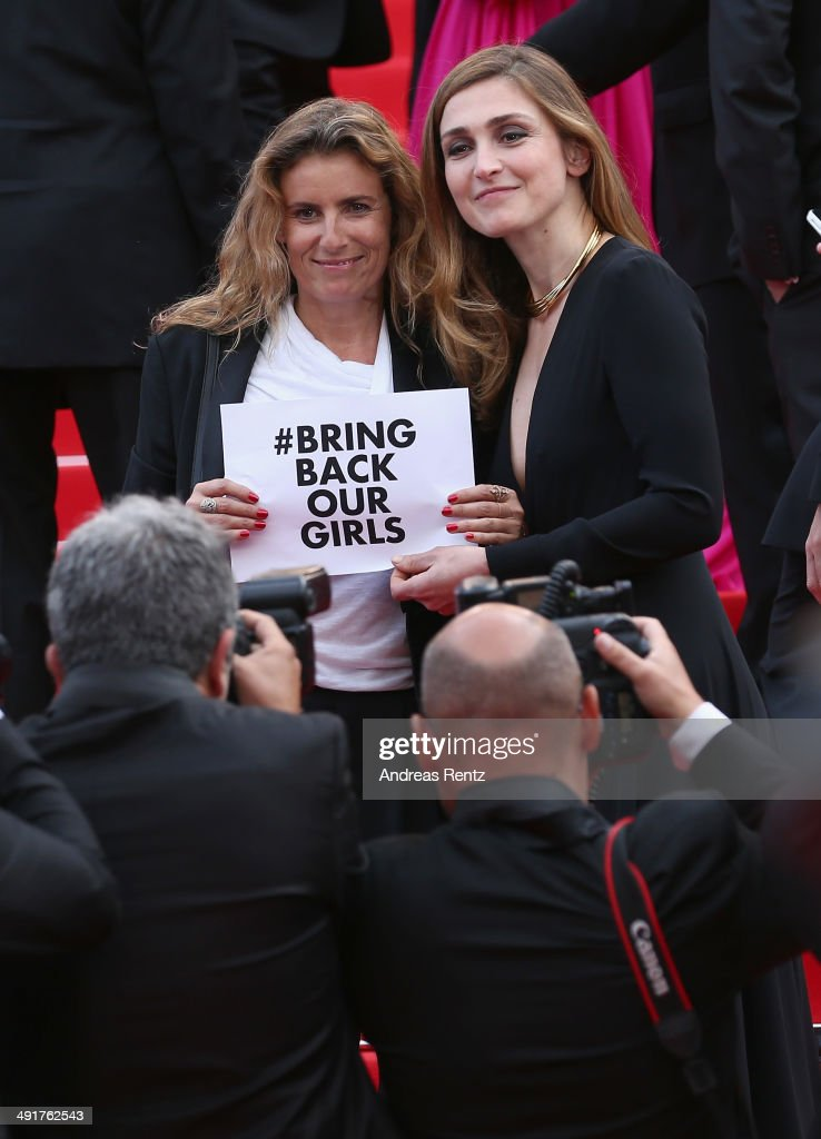 Director Lisa Azuelos and actress <a gi-track='captionPersonalityLinkClicked' href=/galleries/search?phrase=Julie+Gayet&family=editorial&specificpeople=221651 ng-click='$event.stopPropagation()'>Julie Gayet</a> attend 'The Prophet' Premiere at the 67th Annual Cannes Film Festival on May 17, 2014 in Cannes, France.