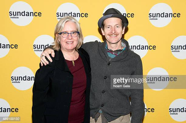 Director Lisa Peterson and actor Denis O'Hare attend the preview screening of 'The Illiad' hosted by Sundance Institute's Theatre Program at Elinor...