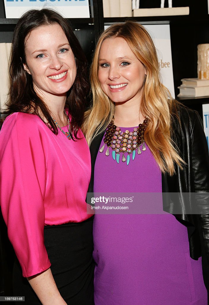 Director Liz W. Garcia (L) and actress Kristen Bell attend 'The Lifeguard' after party on January 19, 2013 in Park City, Utah.
