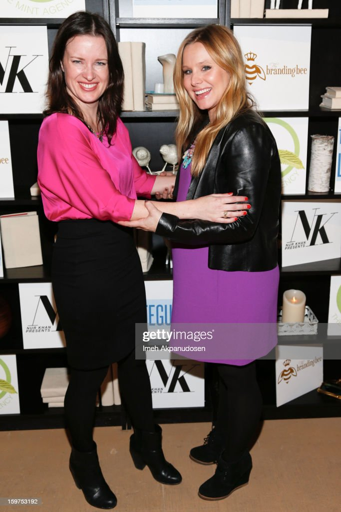 Director Liz W. Garcia (L) and actress <a gi-track='captionPersonalityLinkClicked' href=/galleries/search?phrase=Kristen+Bell&family=editorial&specificpeople=194764 ng-click='$event.stopPropagation()'>Kristen Bell</a> attend 'The Lifeguard' after party on January 19, 2013 in Park City, Utah.