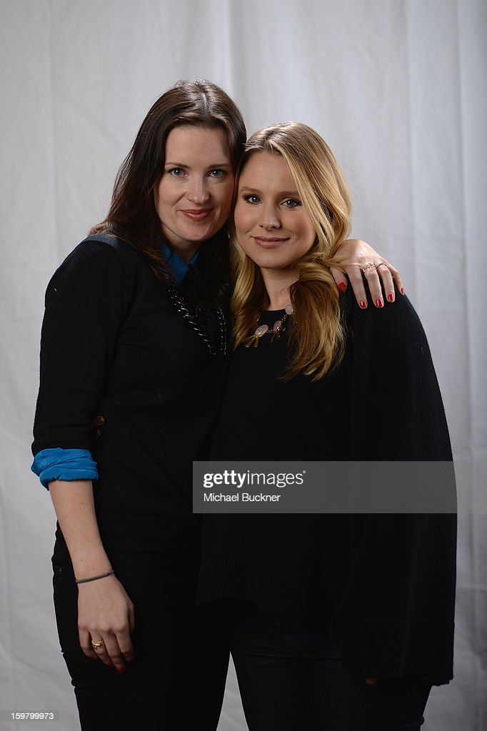 Director Liz W. Garcia (L) and actress Kristen Bell pose for a portrait at the photo booth for MSN Wonderwall at ChefDance on January 20, 2013 in Park City, Utah.