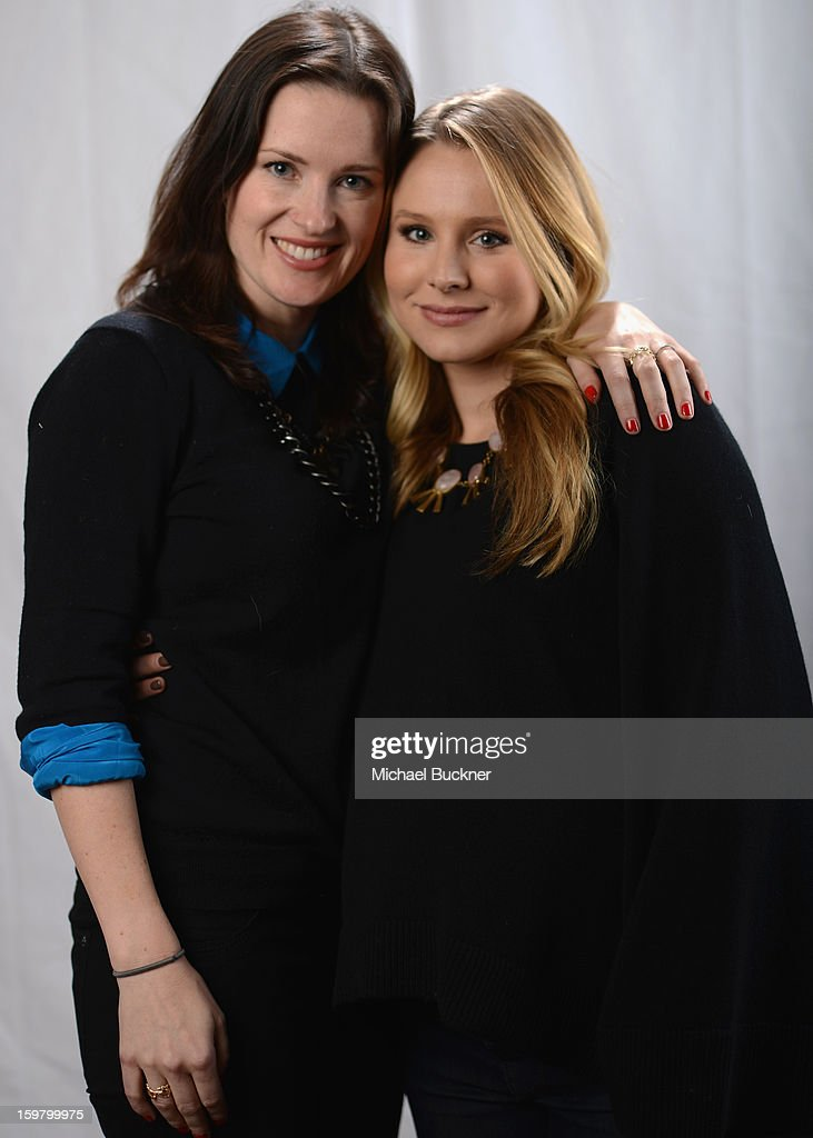 Director Liz W. Garcia (L) and actress <a gi-track='captionPersonalityLinkClicked' href=/galleries/search?phrase=Kristen+Bell&family=editorial&specificpeople=194764 ng-click='$event.stopPropagation()'>Kristen Bell</a> pose for a portrait at the photo booth for MSN Wonderwall at ChefDance on January 20, 2013 in Park City, Utah.