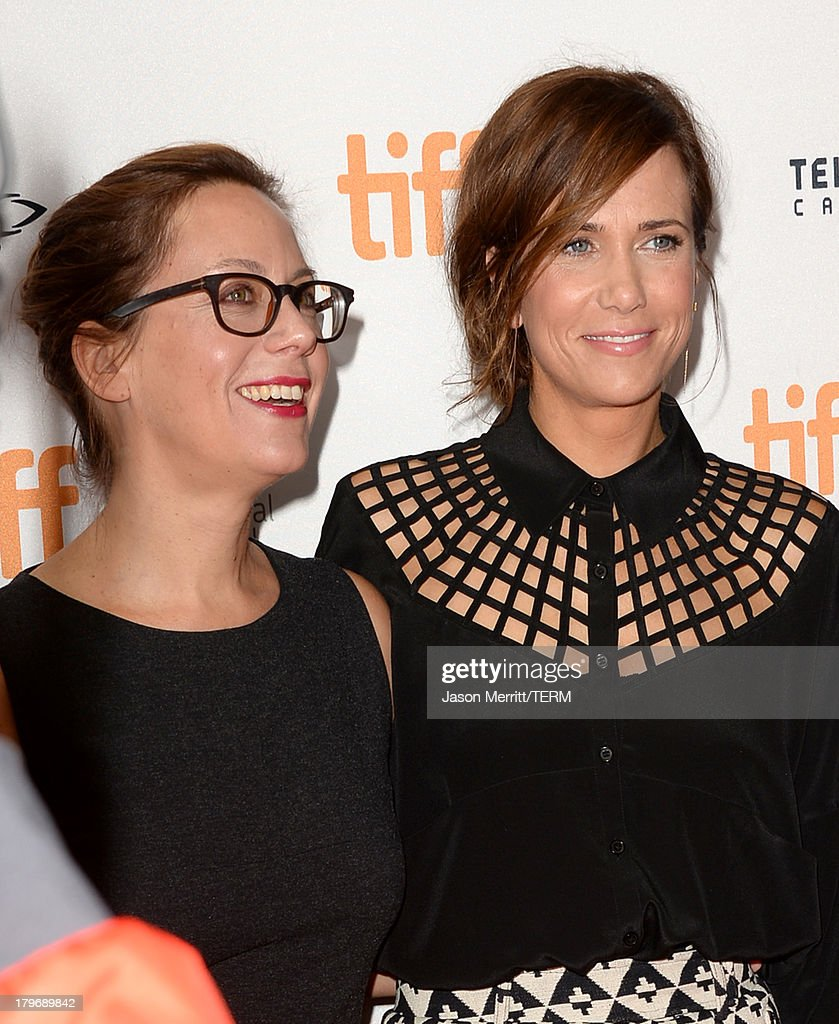 Director Liza Johnson (L) and actress <a gi-track='captionPersonalityLinkClicked' href=/galleries/search?phrase=Kristen+Wiig&family=editorial&specificpeople=4029391 ng-click='$event.stopPropagation()'>Kristen Wiig</a> arrive at 'Hateship Loveship' Premiere during the 2013 Toronto International Film Festival at Princess of Wales Theatre on September 6, 2013 in Toronto, Canada.