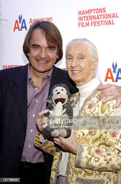 Director Lorenz Knauer and Dr Jane Goodall attend the RoC reception during the 18th Annual Hamptons International Film Festival at United Artists...