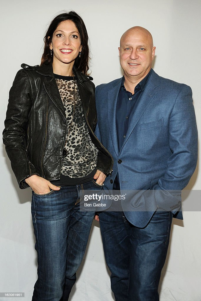 Director Lori Silverbush and Chef <a gi-track='captionPersonalityLinkClicked' href=/galleries/search?phrase=Tom+Colicchio&family=editorial&specificpeople=4167072 ng-click='$event.stopPropagation()'>Tom Colicchio</a> attend Apple Store Soho Presents: Meet The Filmmakers - 'A Place At The Table' at Apple Store Soho on February 18, 2013 in New York City.