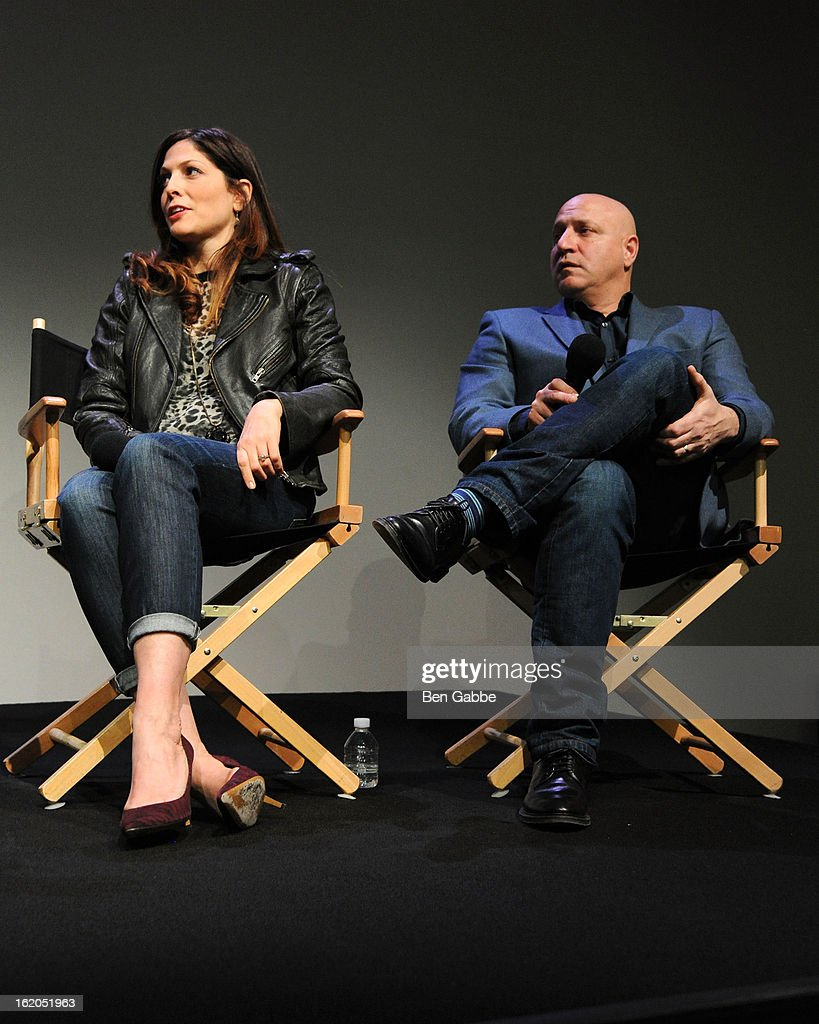Director Lori Silverbush and Chef Tom Colicchio attend Apple Store Soho Presents: Meet The Filmmakers - 'A Place At The Table' at Apple Store Soho on February 18, 2013 in New York City.