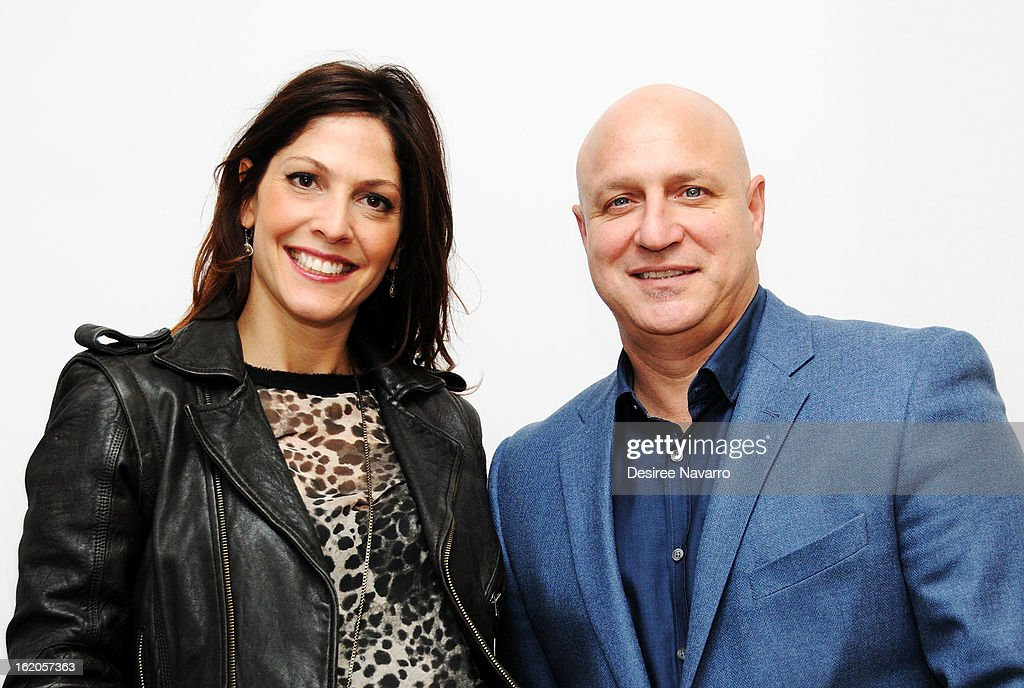Director Lori Silverbush and husband Chef <a gi-track='captionPersonalityLinkClicked' href=/galleries/search?phrase=Tom+Colicchio&family=editorial&specificpeople=4167072 ng-click='$event.stopPropagation()'>Tom Colicchio</a> attend Apple Store Soho Presents: Meet The Filmmakers - 'A Place At The Table' at Apple Store Soho on February 18, 2013 in New York City.