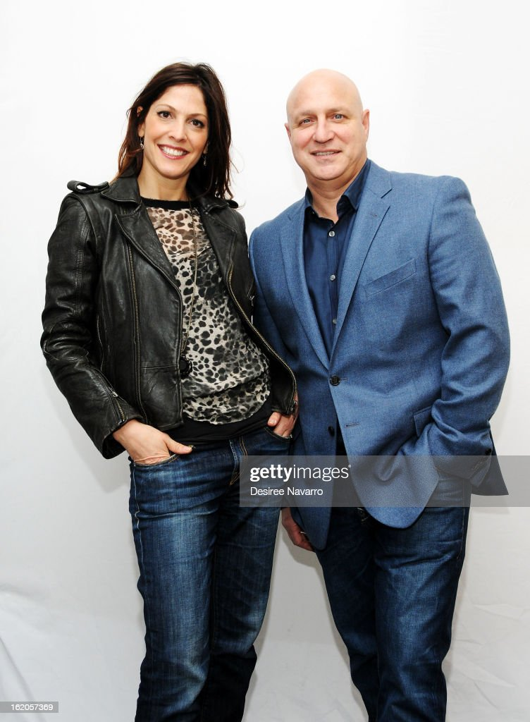 Director Lori Silverbush and husband Chef Tom Colicchio attend Apple Store Soho Presents Meet The Filmmakers 'A Place At The Table' at Apple Store...