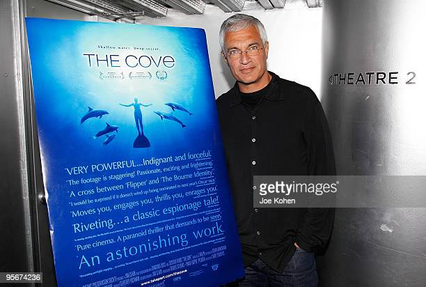 Director Louie Psihoyos attends a screening of 'The Cove' hosted by Tribeca Film Institute's Gucci Tribeca Documentary Fund at Tribeca Cinemas on...