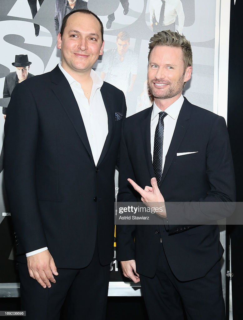Director Louis Letterier and composer <a gi-track='captionPersonalityLinkClicked' href=/galleries/search?phrase=Brian+Tyler&family=editorial&specificpeople=593869 ng-click='$event.stopPropagation()'>Brian Tyler</a> attend the 'Now You See Me' New York Premiere at AMC Lincoln Square Theater on May 21, 2013 in New York City.
