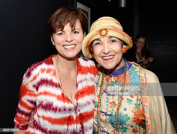 Director Louise Salter and fashion sylist Tziporah Salamon attend The Laboratory Arts Collective private Screening of 'Twin Visions' at TCL Chinese...