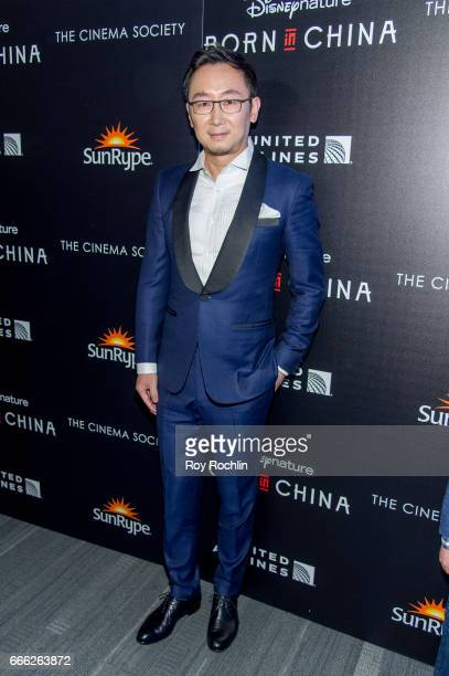 Director Lu Chuan attends Disneynature with the Cinema Society host the premiere of 'Born in China' at Landmark Sunshine Cinema on April 8 2017 in...