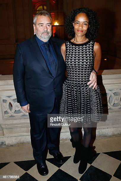Director Luc Besson and his wife Virginie attend Luc Besson receives the First 'Gold Medal of the Academy of Arts and Techniques of Cinema' Held at...