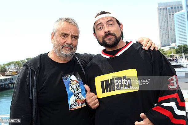 Director Luc Besson and host Kevin Smith attend the IMDb Yacht at San Diego ComicCon 2016 Day One at The IMDb Yacht on July 21 2016 in San Diego...