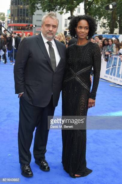 Director Luc Besson and producer Virginie BessonSilla attend the European Premiere of 'Valerian And The City Of A Thousand Planets' at Cineworld...