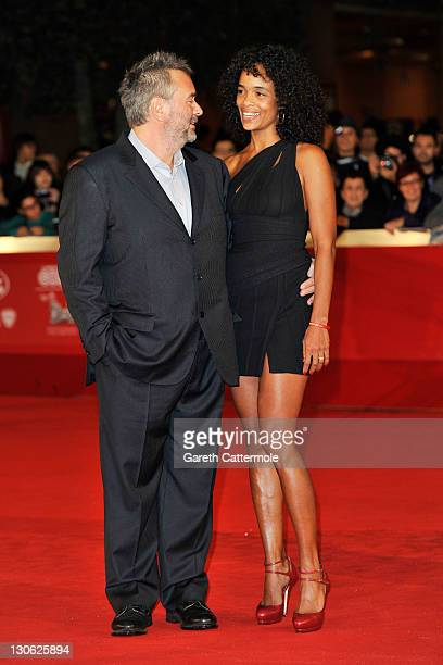 Director Luc Besson and wife producer Virginie BessonSilla attend the 'The Lady' Premiere and Opening Ceremony during 6th International Rome Film...