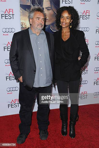 Director Luc Besson and wife Virginie Silla arrive at the AFI FEST 2014 Presented By Audi 'The Homesman' Premiere at Dolby Theatre on November 11...