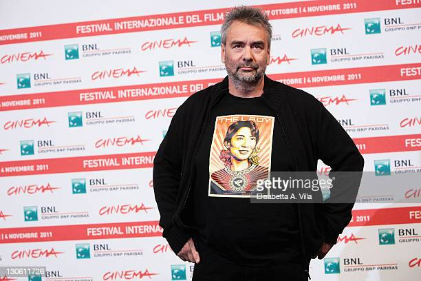 Director Luc Besson attend 'The Lady' Photocall during 6th International Rome Film Festival at Auditorium Parco Della Musica on October 27 2011 in...