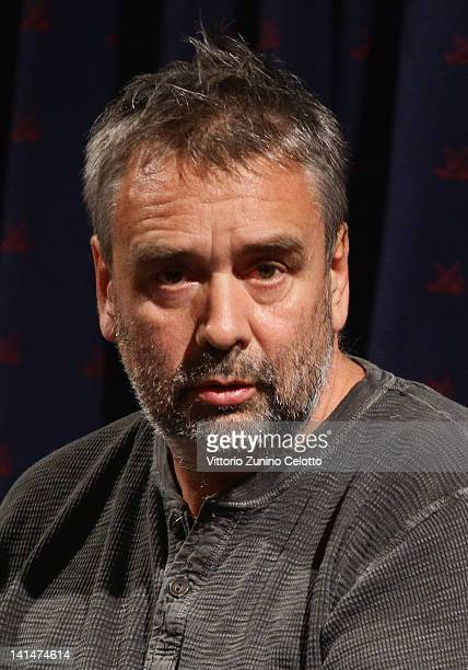 Director Luc Besson attends a cinema lesson at Cinema Anteo on March 17 2012 in Milan Italy