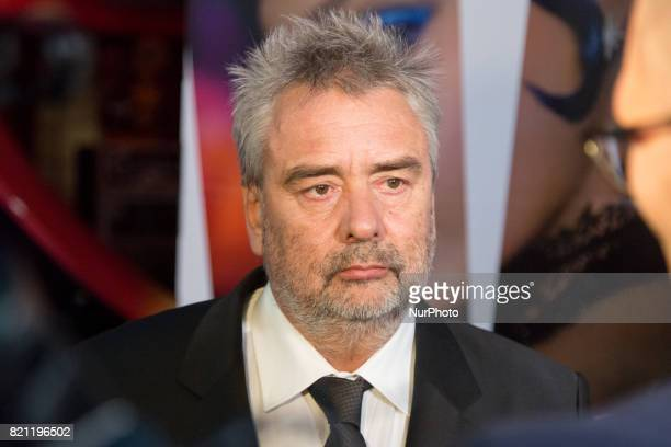 Director Luc Besson during the 'Valerian and the City of a Thousand Planets' movie premiere at Multikino Zlote Tarasy cinema in Warsaw Poland on 22...